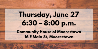 Thursday, June 27, 6:30 – 8:00 p.m.