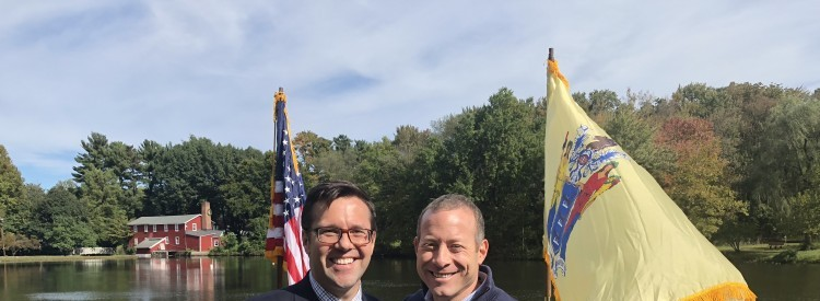 Ed Potosnak, Executive Director of New Jersey LCV, and Josh Gottheimer.